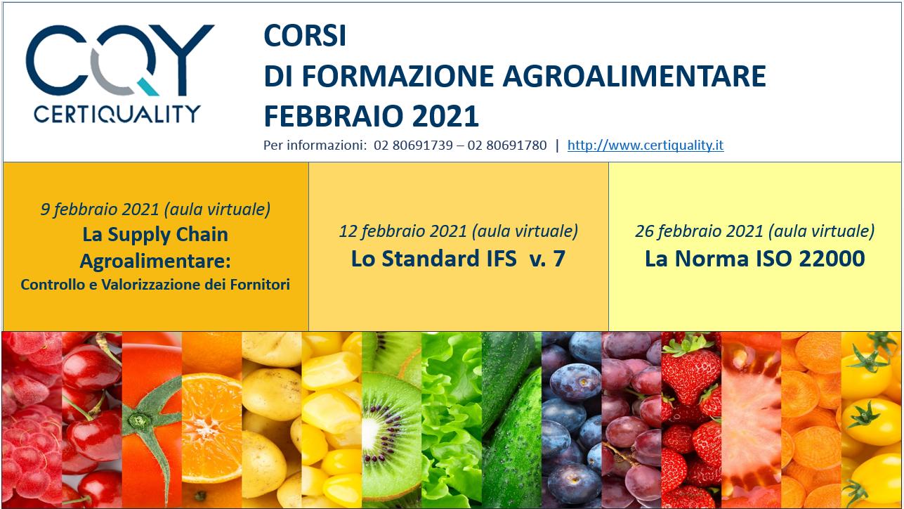 Corsi Agro - Febbraio 2021